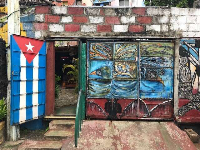 Colorful street art in Havana
