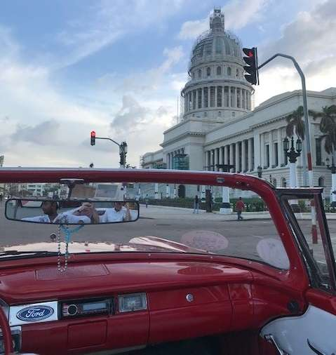 Classic car ride in Havana