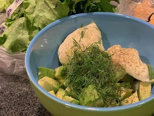 Avocado Egg White Salad Wraps
